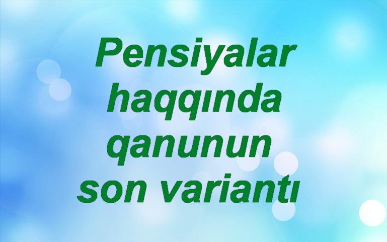 Pensiya Qanunu Novator Az