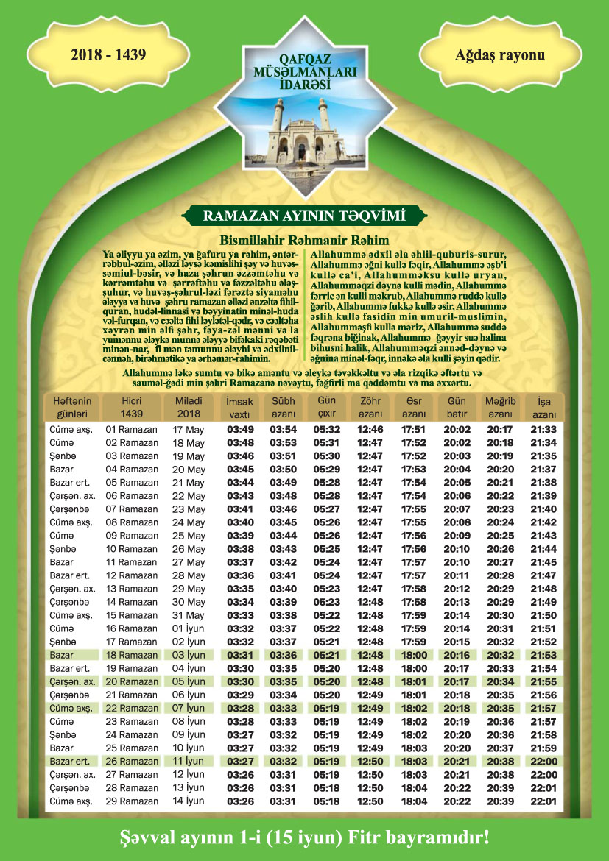 Ramazan Təqvimi Novator Az